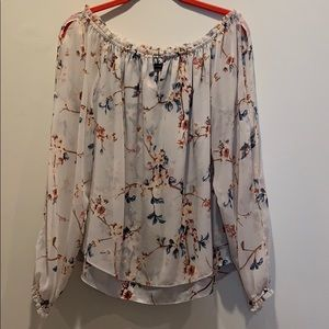 WHBM size M split sleeve off the shoulder top